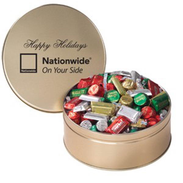 Imprinted Hershey's (R) Holiday Mix / Extra Large Tin