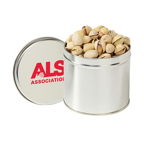 Personalized Round 1/2 Quart Tin / Pistachios