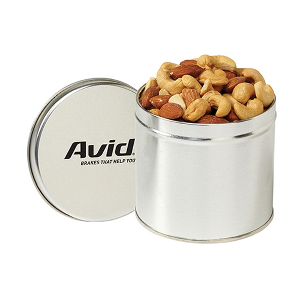 Promotional Round 1/2 Quart Tin / Mixed Nuts