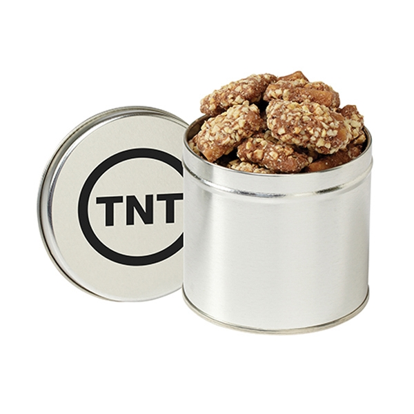 Printed Round 1/2 Quart Tin / English Butter Toffee
