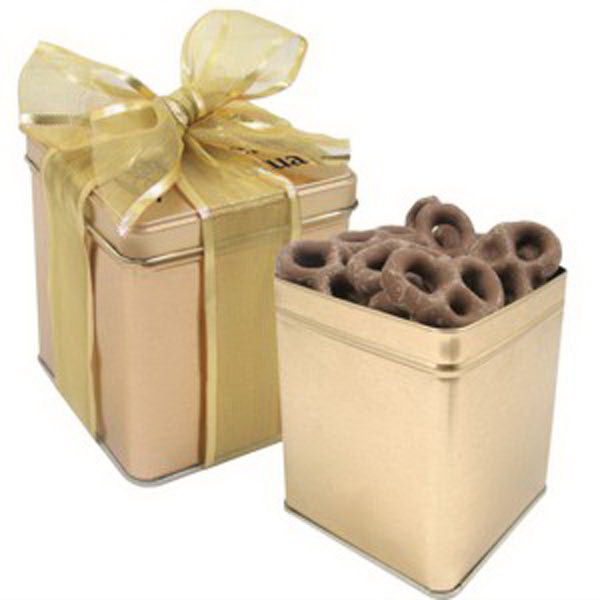 Custom Perfect Present Tin / Chocolate Pretzels
