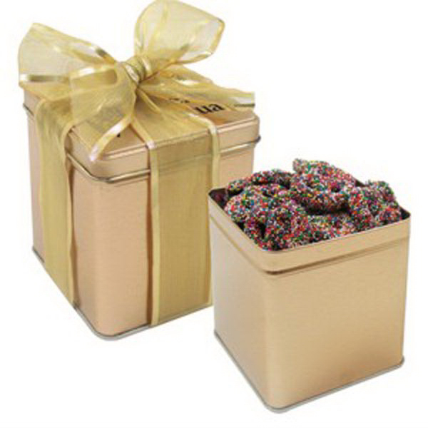 Personalized Perfect Present Tin / Sprinkled Pretzels