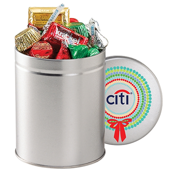 Custom Hershey's (R) Holiday Mix / Quart Tin