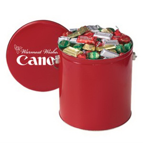 Custom Hershey's (R) Holiday Mix / Gallon Tin