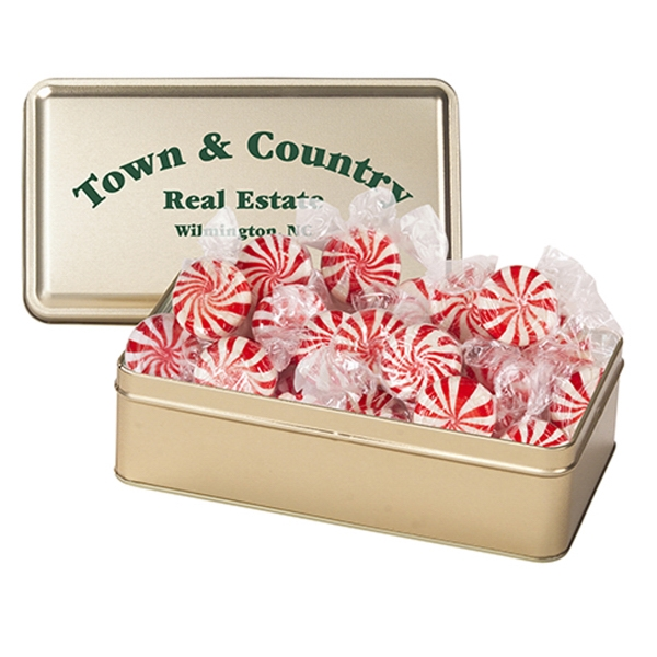 Personalized Large Rectangle Tin / Starlight Mints