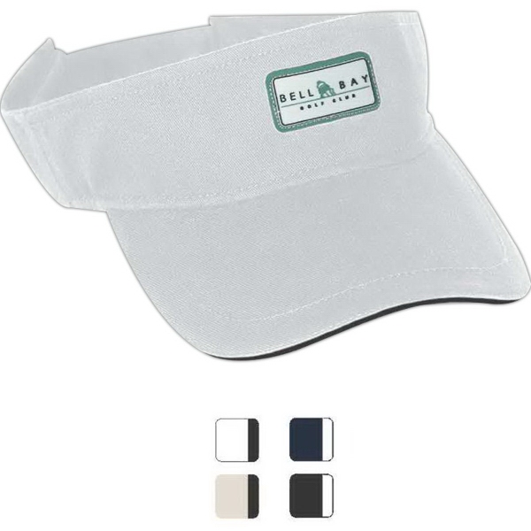 Personalized Excel chino twill contrast sandwich visor