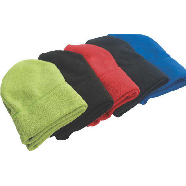 Imprinted Caliber recycled fleece toque