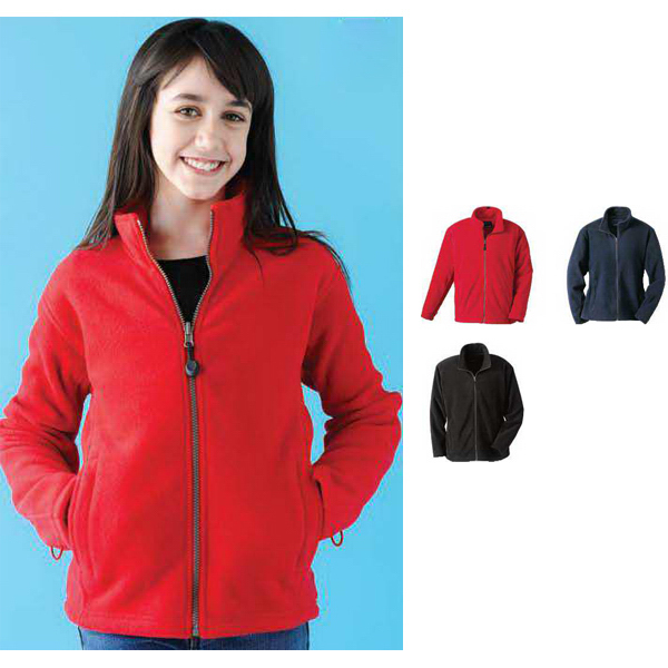 Imprinted Youth fleece full zip jacket