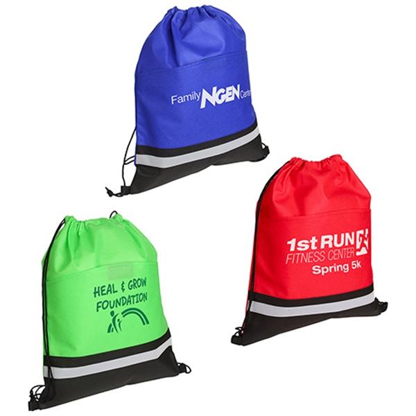Promotional Safety Drawstring Bag