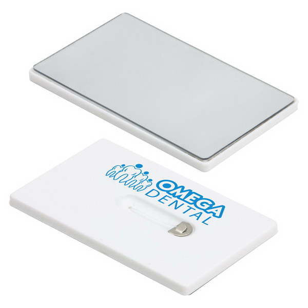 Printed Credit Card Dental Floss with Mirror
