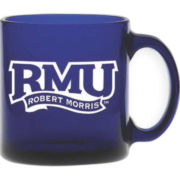 Promotional Midnight Blue Glass Coffee Mug