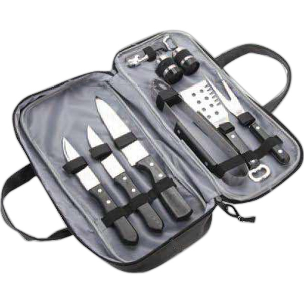 Custom 9 Piece Barbecue Set with Lichee Compact Bag