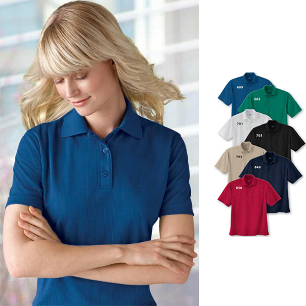 Personalized Ladies' Extreme Eperformance (TM) Jacquard Pique Polo