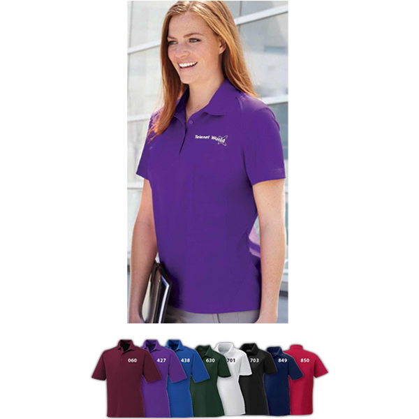 Custom Ladies' Shield Snag Protection Short Sleeve Polo