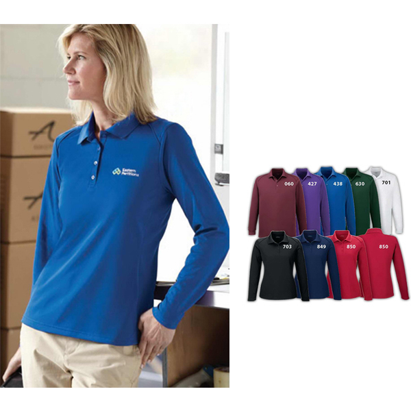 Personalized Ladies' Armour Snag Protection Long Sleeve Polo