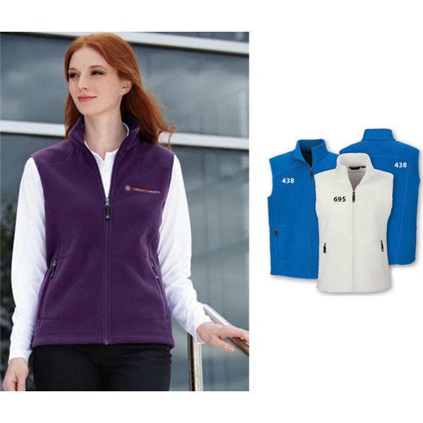Imprinted Ladies' North End (R) Voyage Fleece Vest