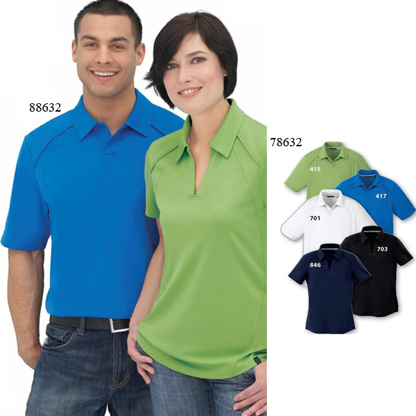 Printed Ladies' Recycled Polyester Performance Pique Polo