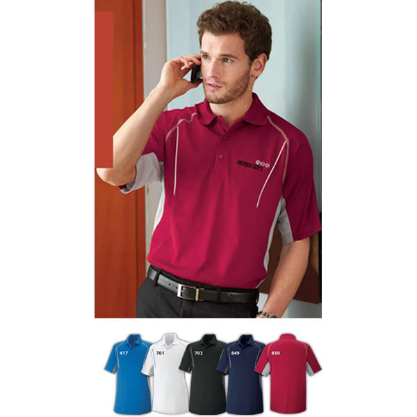 Printed Men's Parallel Snag Protection Polo with Piping