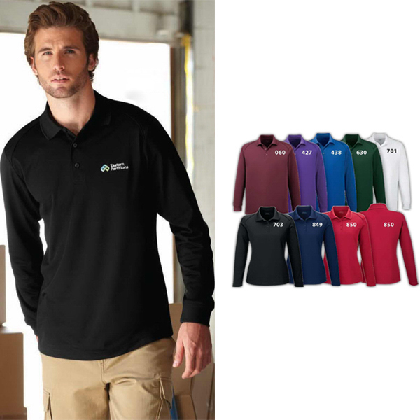 Personalized Men's Tall Armour Men's Snag Protection Long Sleeve Polo