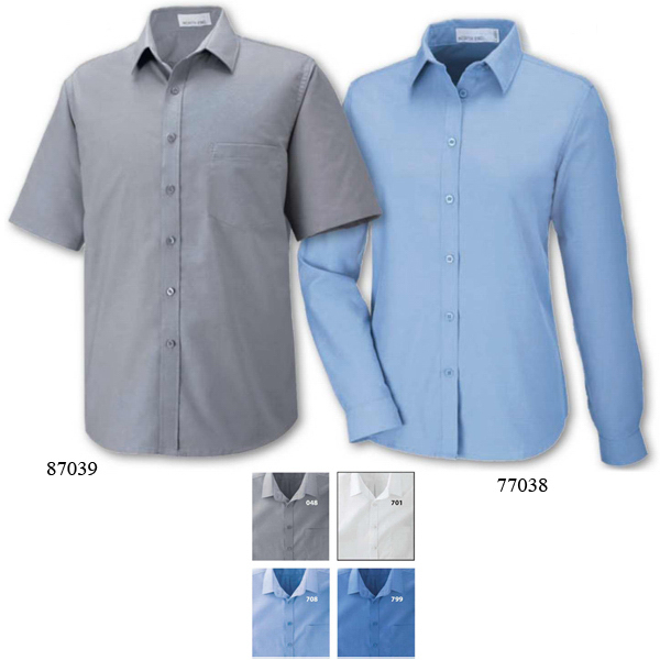 Imprinted Men's Maldon North End (R) Short Sleeve Oxford Shirt
