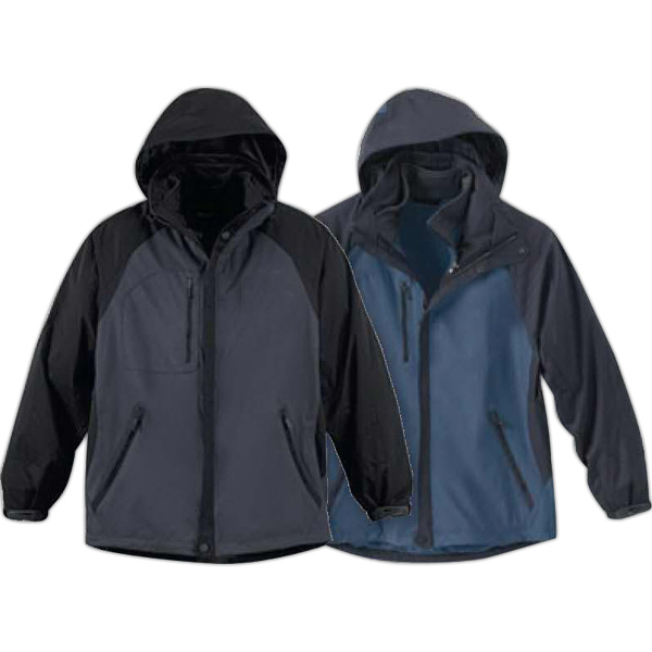 Customized Men's North End (R) 3-in-1 Seam Sealed Mid Length Jacket