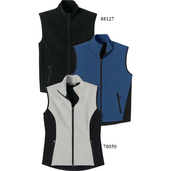 Printed Men's North End (R) 3-Layer Light Bonded Soft Shell Vest