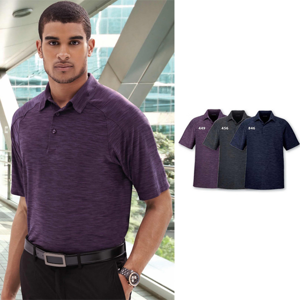 Promotional Men's North End Sport (R) Barcode Performance Stretch Polo