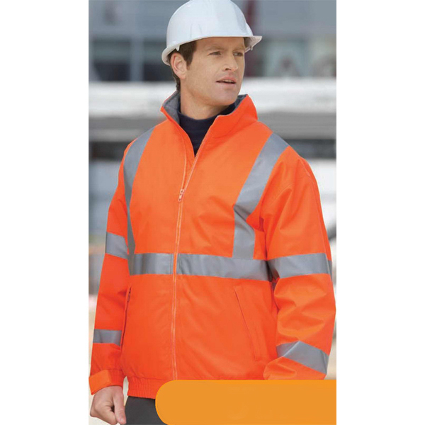 Customized Men's North End (R) Vertical Stripe Insulated Safety Jacket
