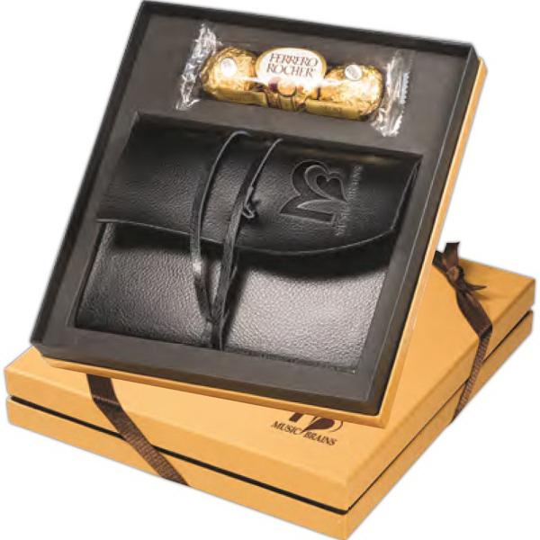 Printed Ferrero Rocher® Chocolates & Wrapped Journal Gift SetSet