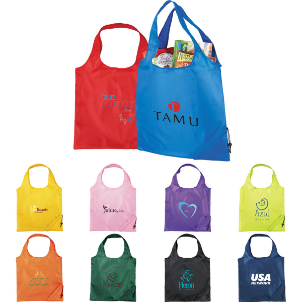 Custom The Bungalow Foldaway Shopper Tote