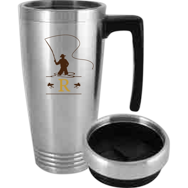 Printed Double wall stainless steel travel mug