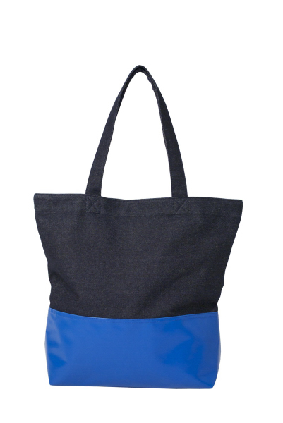 Printed Denim Tote
