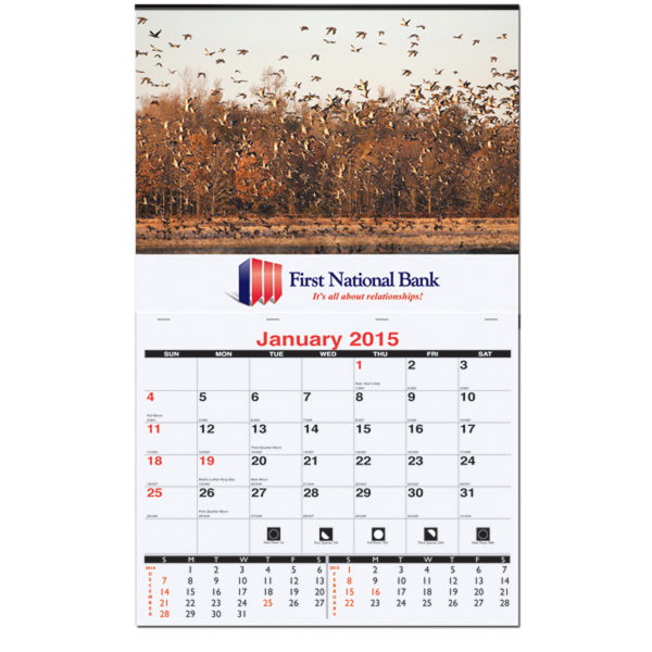 Promotional 2015 XL Wall Calendar - One Photo