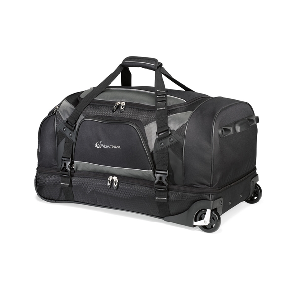 Customized Vertex (TM) Tech Drop Bottom Wheeled Duffel