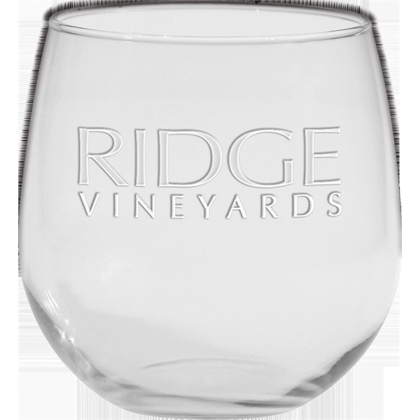 Printed Stemless Red Wine Glass