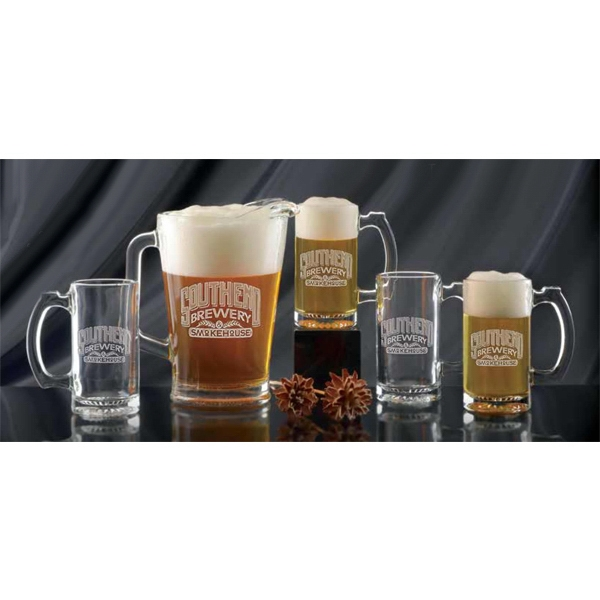 Promotional Glass Pitcher and Tankard Set