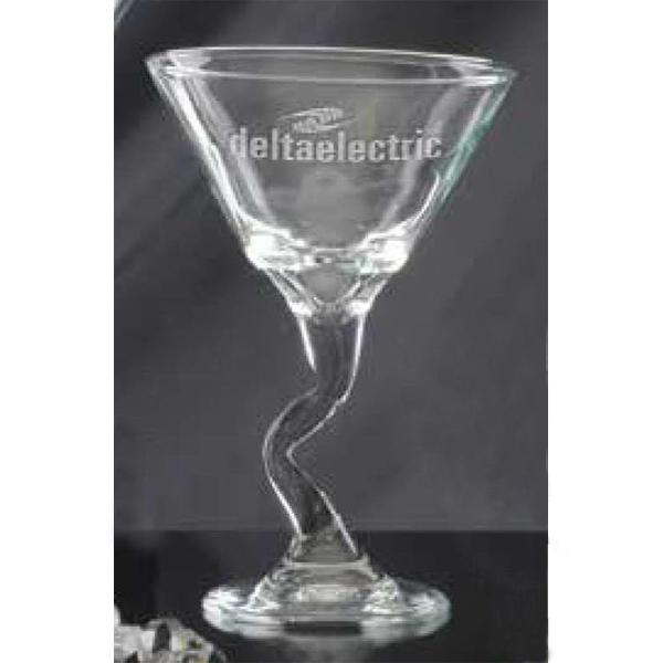 Imprinted Jazzy Stem Martini