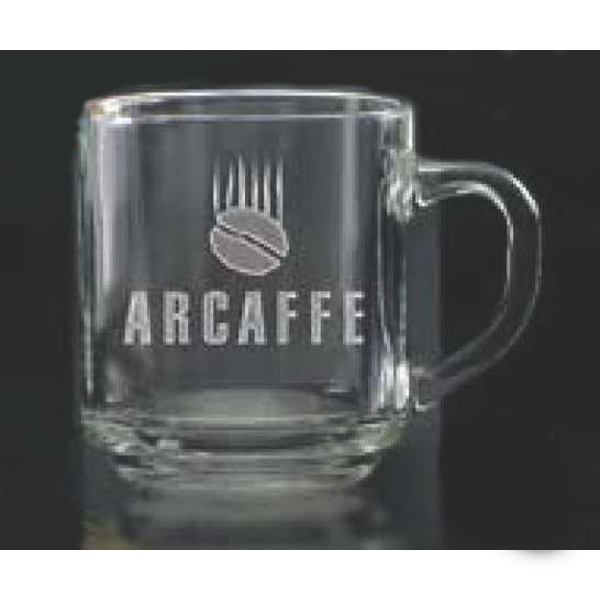 Imprinted Capri Glass Coffee Mug