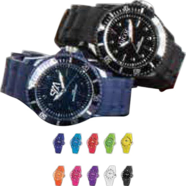 Imprinted Infinity Silicone Analog Watch
