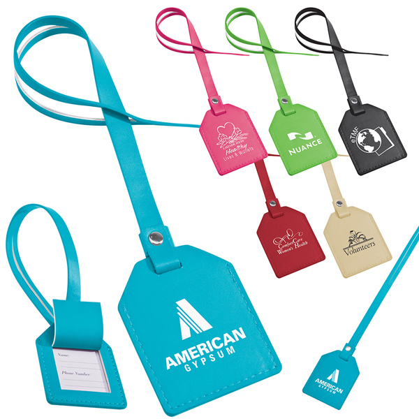 Promotional Small-n-Smart Leatherette Bag Tag