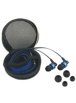 Printed Flat Cable Ear Buds with Mic & In-Line Control