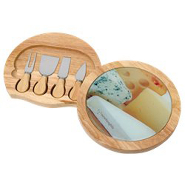 Promotional 6 pc Rubberwood Cheese Set