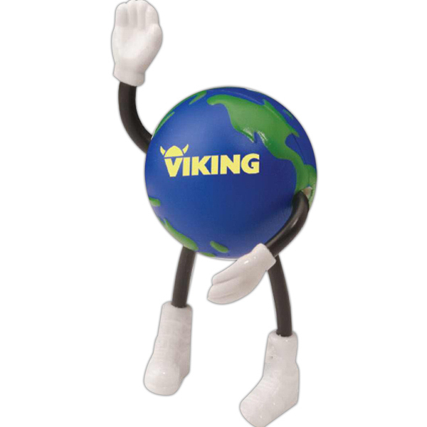 Promotional Globe Stick People Stress Reliever