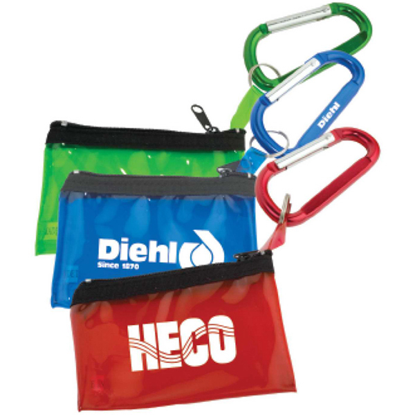 Printed Carabiner with Key Tag Pouch