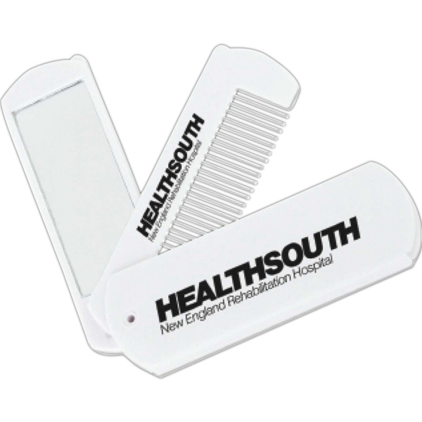 Custom Folding Comb with Mirror