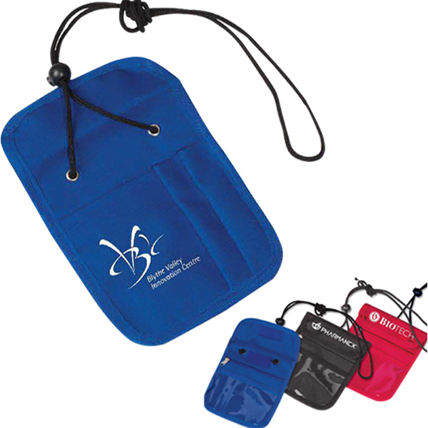 Promotional Credential Holder with Zipper Pocket