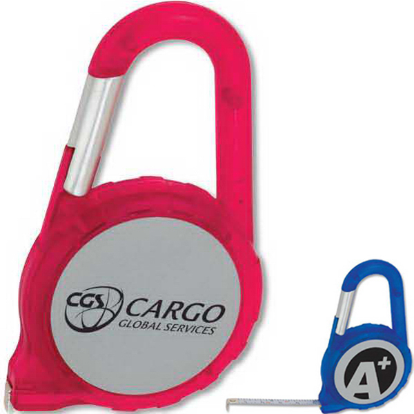 Imprinted Carabiner Tape Measure