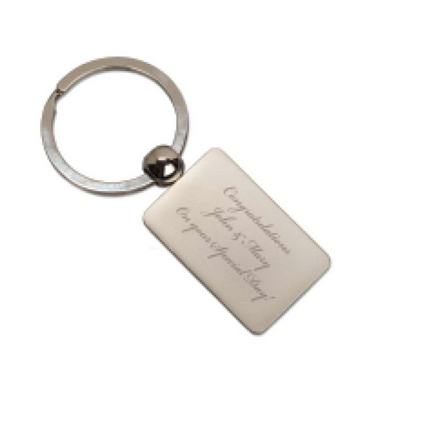 Personalized Rectangle Key Tag