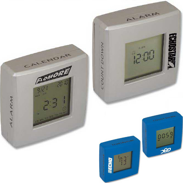 Imprinted 4-in-1 Clock