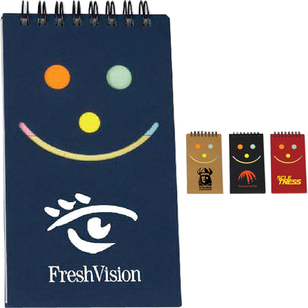 Promotional Smile Jotter with Sticky Note